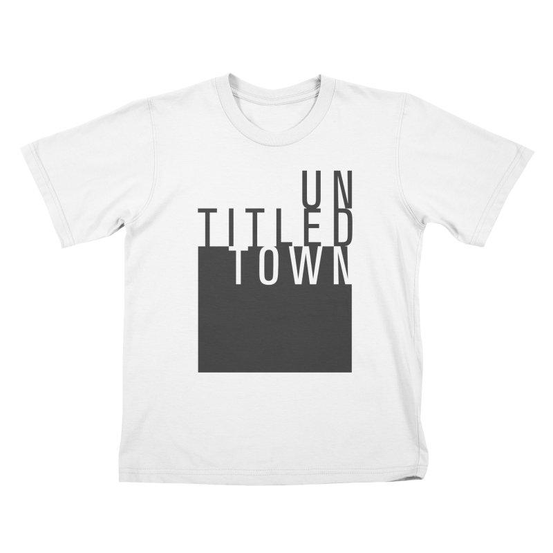 Un/Titled/Town Black +Transparent letters Kids T-Shirt by UntitledTown Store