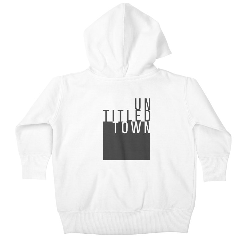 Un/Titled/Town Black +Transparent letters Kids Baby Zip-Up Hoody by UntitledTown Store