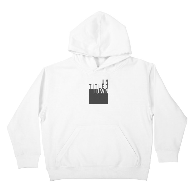 Un/Titled/Town Black +Transparent letters Kids Pullover Hoody by UntitledTown Store