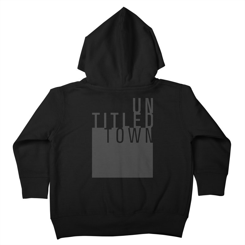 Un/Titled/Town Black +Transparent letters Kids Toddler Zip-Up Hoody by UntitledTown Store