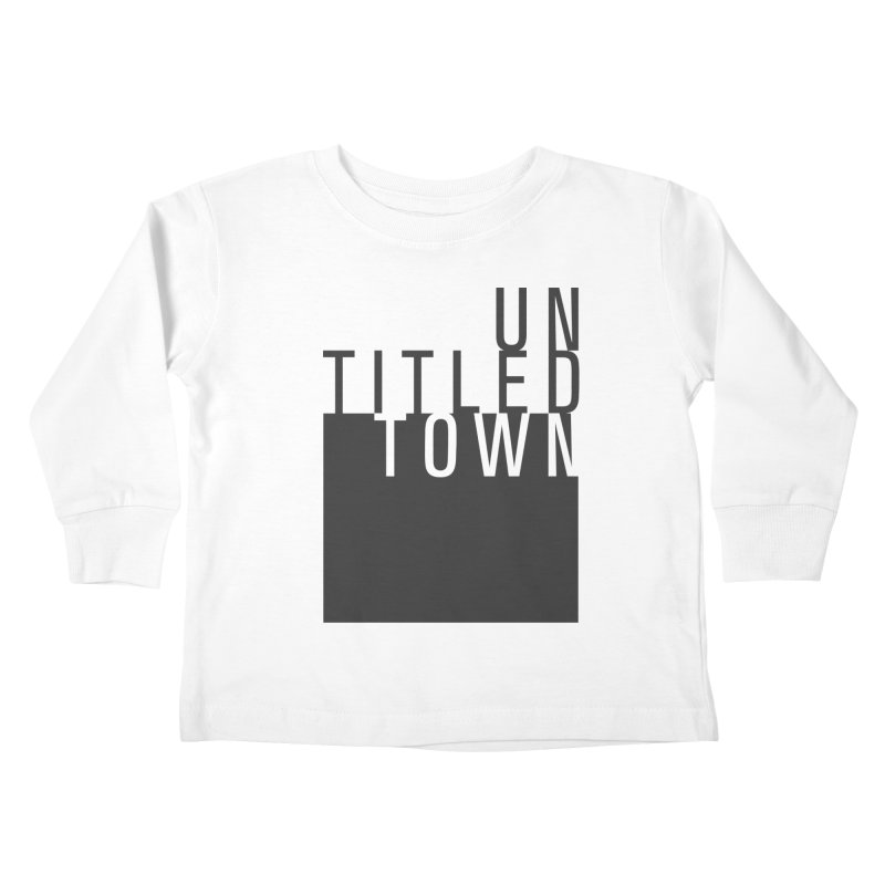 Un/Titled/Town Black +Transparent letters Kids Toddler Longsleeve T-Shirt by UntitledTown Store