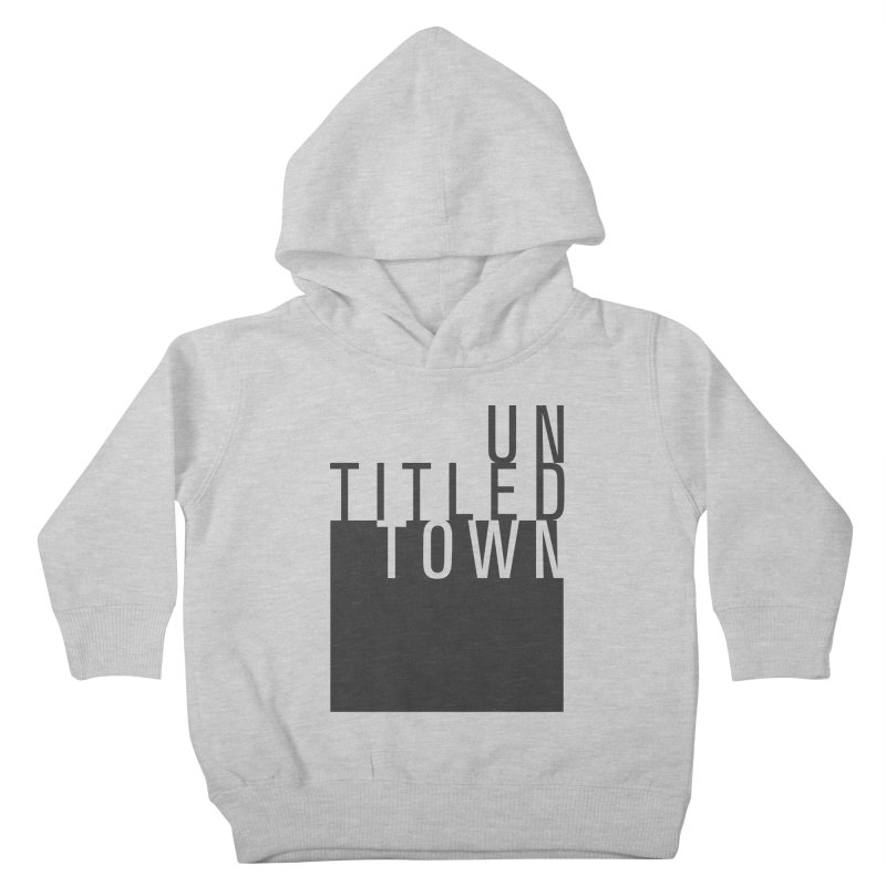 Un/Titled/Town Black +Transparent letters Kids Toddler Pullover Hoody by UntitledTown Store