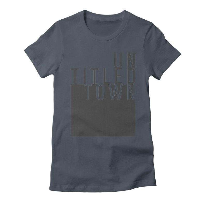 Un/Titled/Town Black +Transparent letters Women's T-Shirt by UntitledTown Store