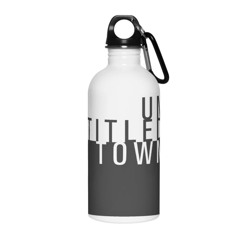 Un/Titled/Town Black +Transparent letters Accessories Water Bottle by UntitledTown Store