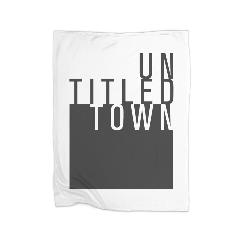 Un/Titled/Town Black +Transparent letters Home Fleece Blanket Blanket by UntitledTown Store