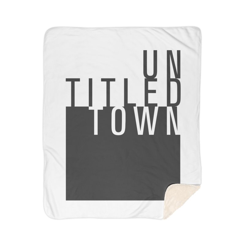 Un/Titled/Town Black +Transparent letters Home Blanket by UntitledTown Store