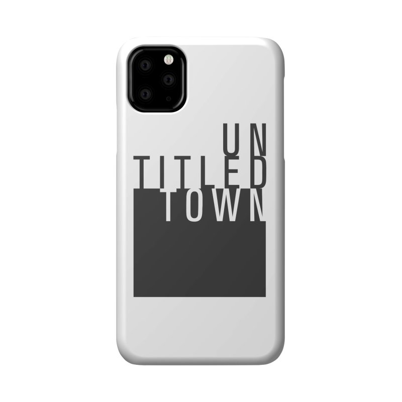 Un/Titled/Town Black +Transparent letters Accessories Phone Case by UntitledTown Store