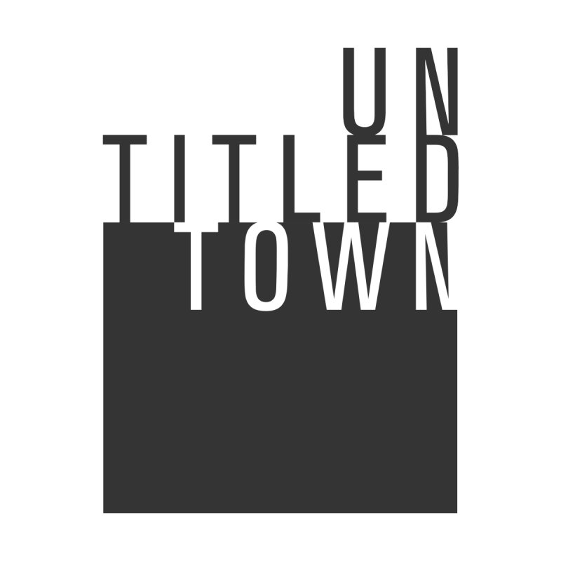 Un/Titled/Town Black + White letters by UntitledTown Store