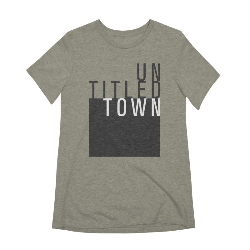 Un/Titled/Town Black + White letters Women's Extra Soft T-Shirt by UntitledTown Store