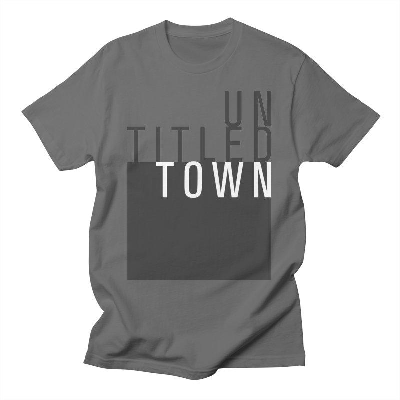 Un/Titled/Town Black + White letters Men's T-Shirt by UntitledTown Store