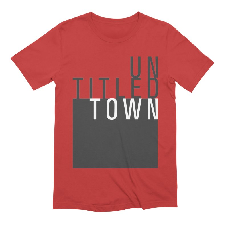 Un/Titled/Town Black + White letters Men's Extra Soft T-Shirt by UntitledTown Store