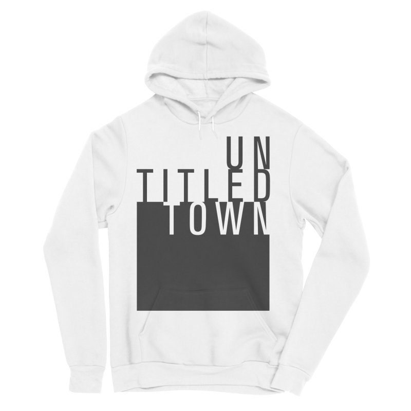 Un/Titled/Town Black + White letters Women's Sponge Fleece Pullover Hoody by UntitledTown Store