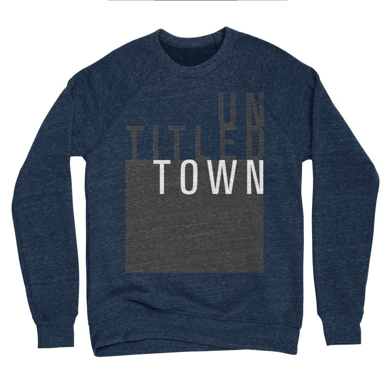 Un/Titled/Town Black + White letters Men's Sponge Fleece Sweatshirt by UntitledTown Store