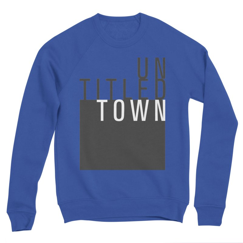 Un/Titled/Town Black + White letters Men's Sponge Fleece Sweatshirt by UntitledTown Store