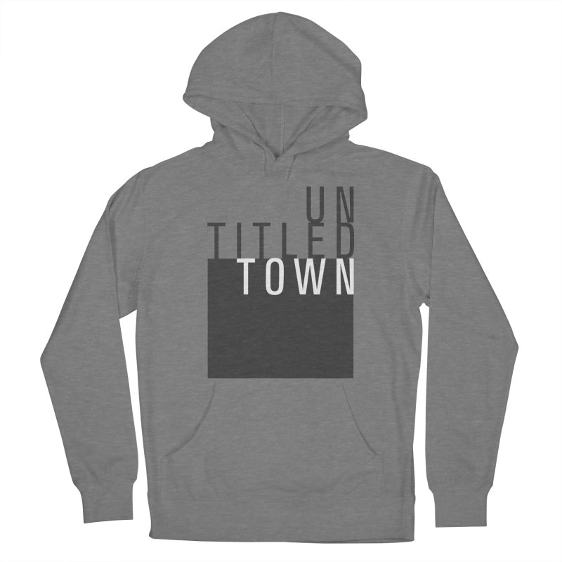 Un/Titled/Town Black + White letters Women's Pullover Hoody by UntitledTown Store