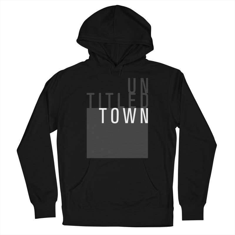 Un/Titled/Town Black + White letters Men's Pullover Hoody by UntitledTown Store