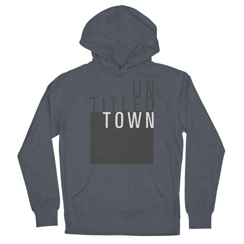 Un/Titled/Town Black + White letters Women's French Terry Pullover Hoody by UntitledTown Store