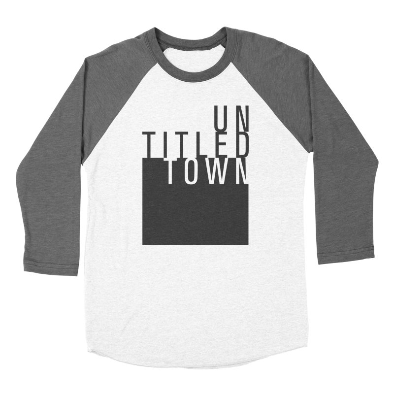 Un/Titled/Town Black + White letters Women's Longsleeve T-Shirt by UntitledTown Store