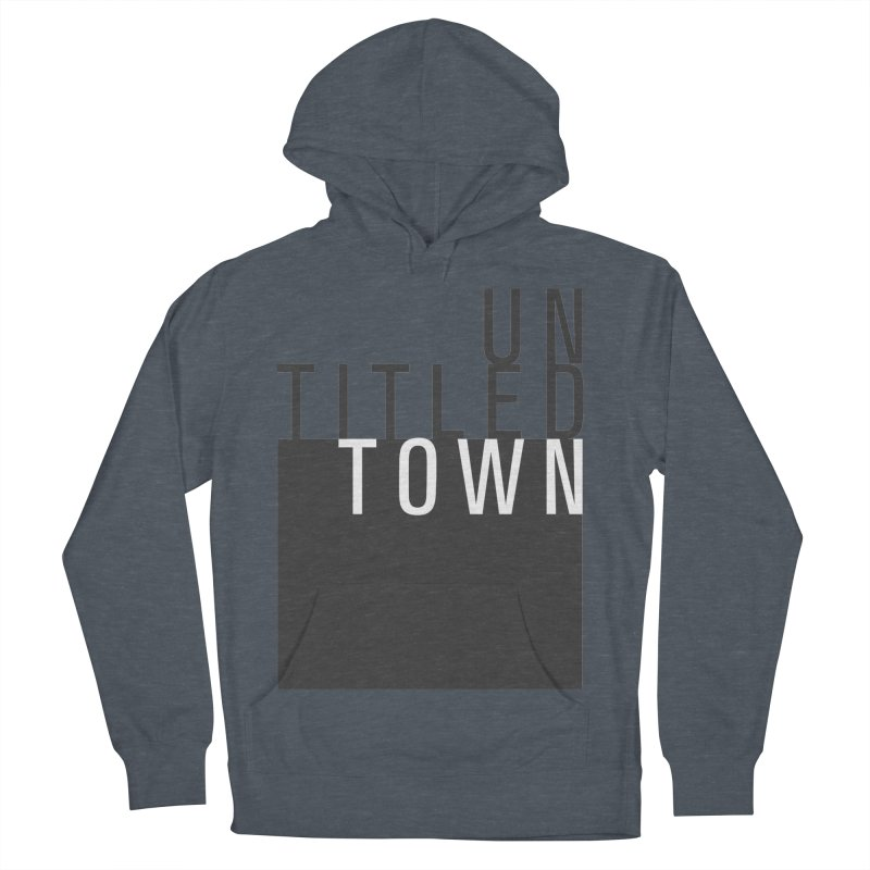 Un/Titled/Town Black + White letters Men's French Terry Pullover Hoody by UntitledTown Store