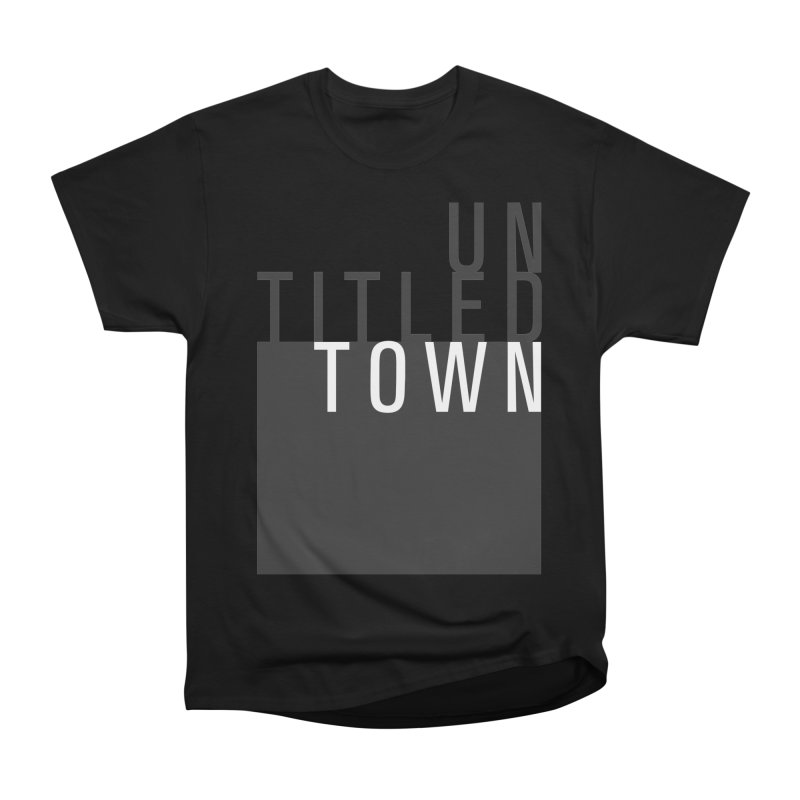 Un/Titled/Town Black + White letters Women's Heavyweight Unisex T-Shirt by UntitledTown Store