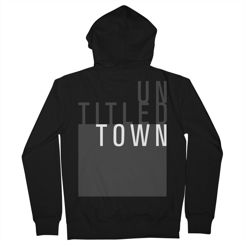 Un/Titled/Town Black + White letters Women's French Terry Zip-Up Hoody by UntitledTown Store