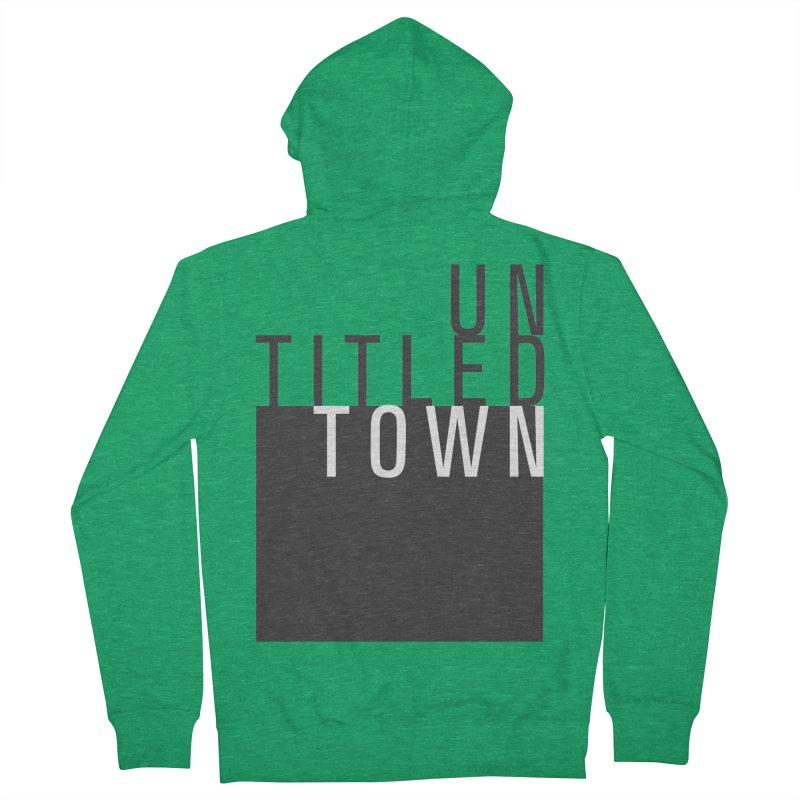 Un/Titled/Town Black + White letters Men's Zip-Up Hoody by UntitledTown Store