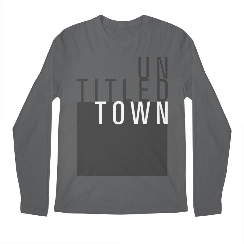 Un/Titled/Town Black + White letters Men's Longsleeve T-Shirt by UntitledTown Store
