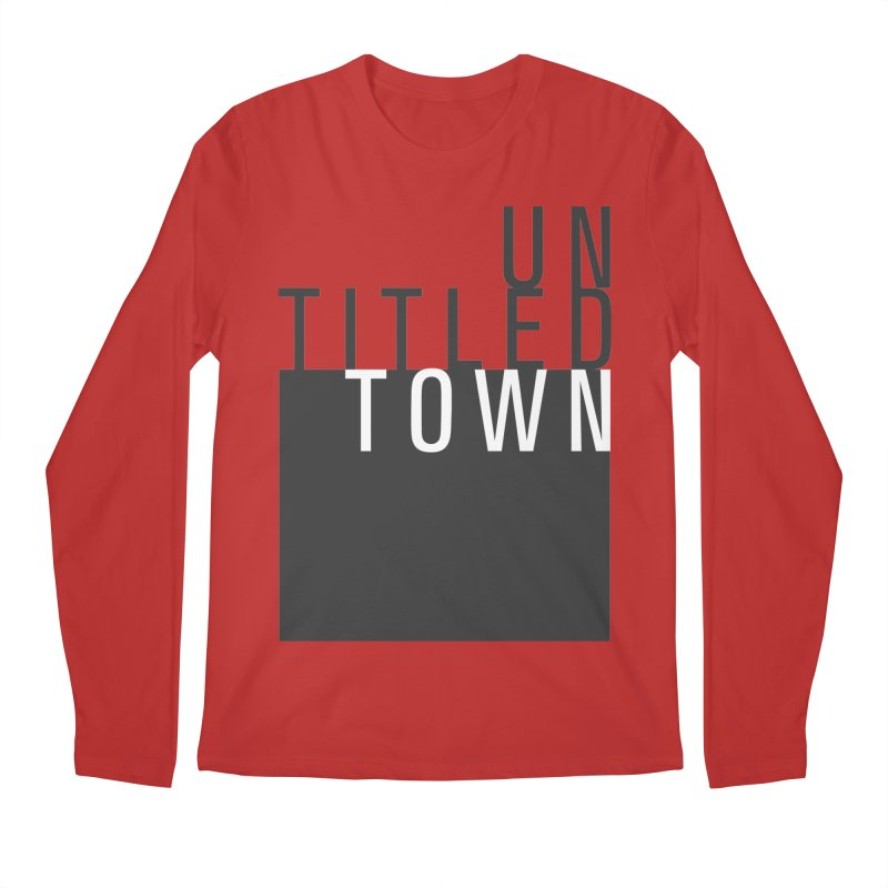 Un/Titled/Town Black + White letters Men's Regular Longsleeve T-Shirt by UntitledTown Store