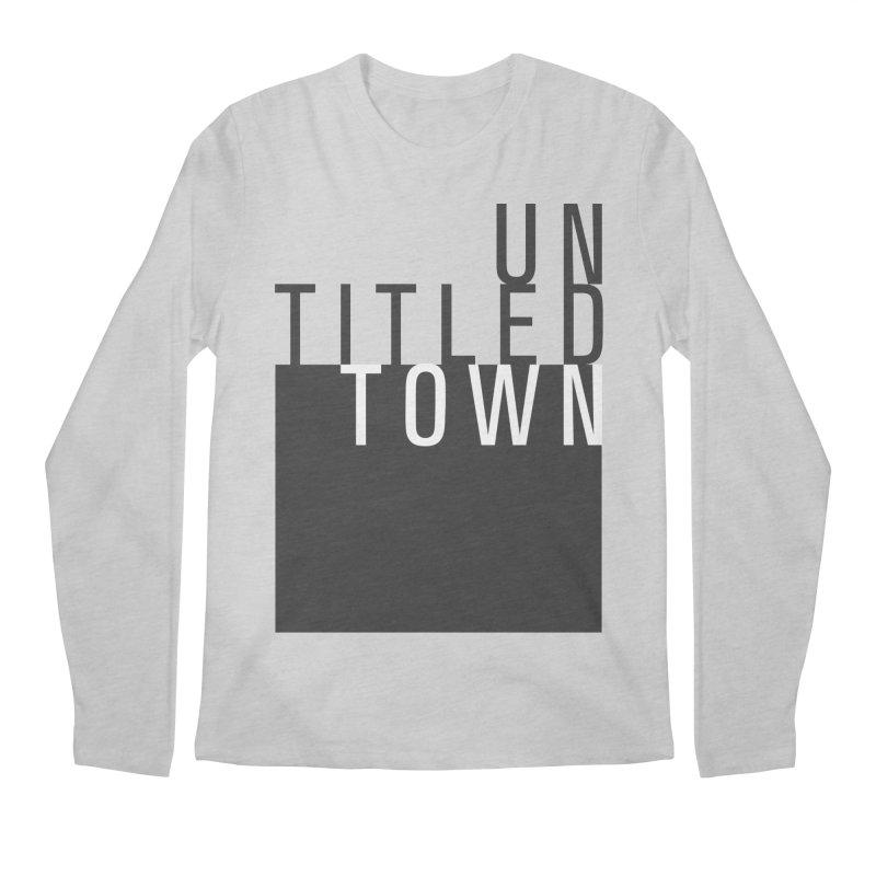 Un/Titled/Town Black + White letters Men's Regular Longsleeve T-Shirt by UntitledTown Store