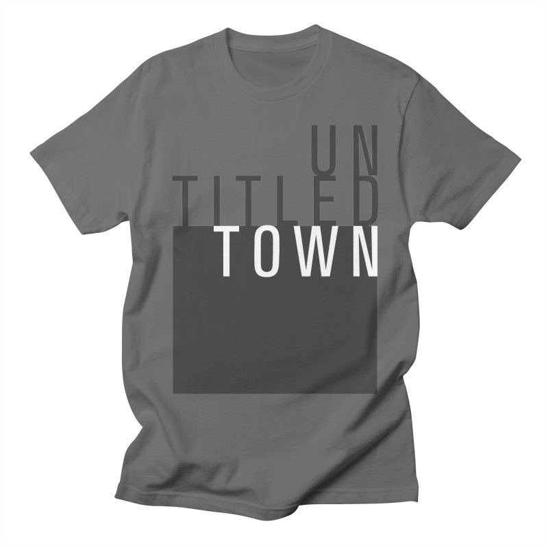 Un/Titled/Town Black + White letters Men's T-Shirt by UntitledTown Store