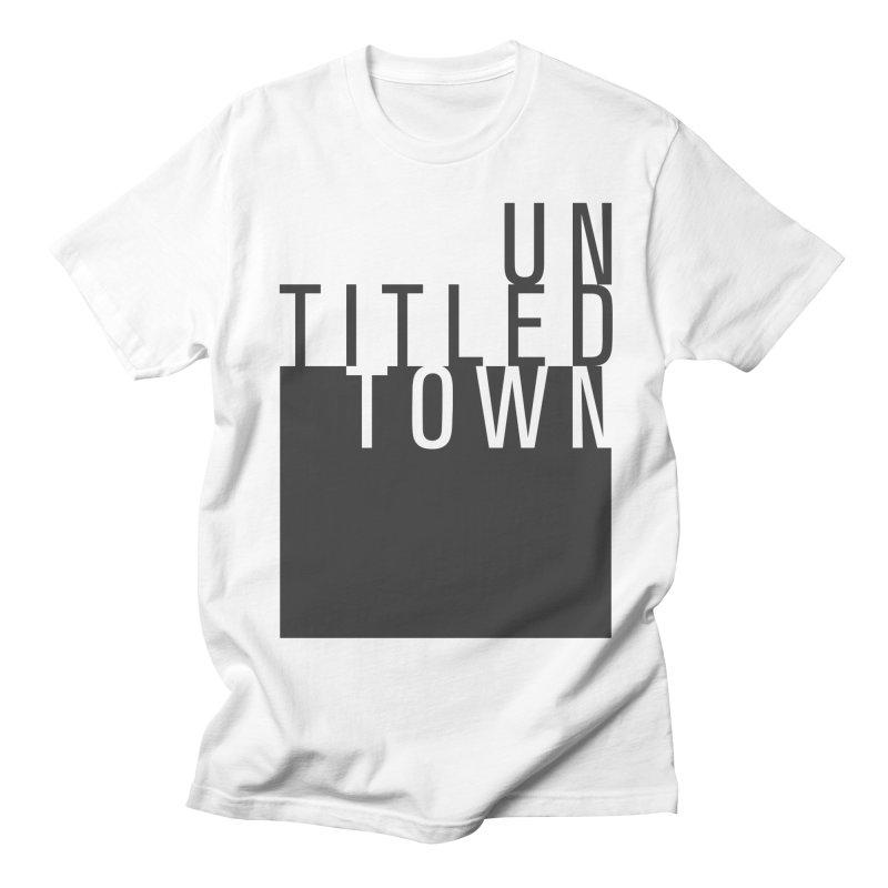 Un/Titled/Town Black + White letters Women's Regular Unisex T-Shirt by UntitledTown Store