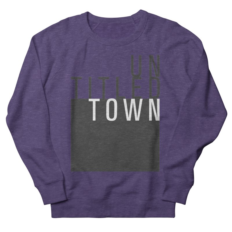 Un/Titled/Town Black + White letters Men's French Terry Sweatshirt by UntitledTown Store
