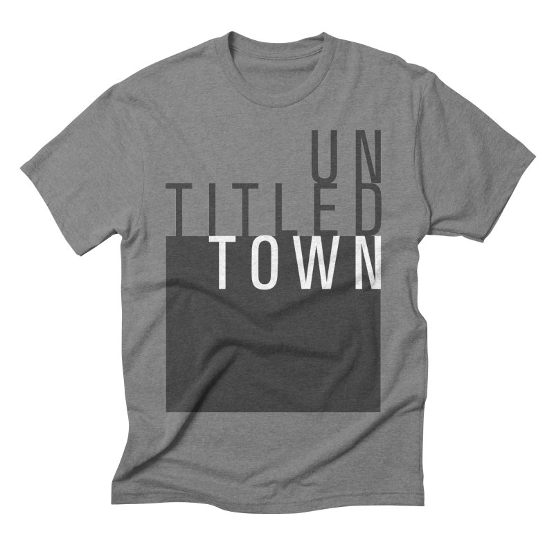 Un/Titled/Town Black + White letters Men's Triblend T-Shirt by UntitledTown Store