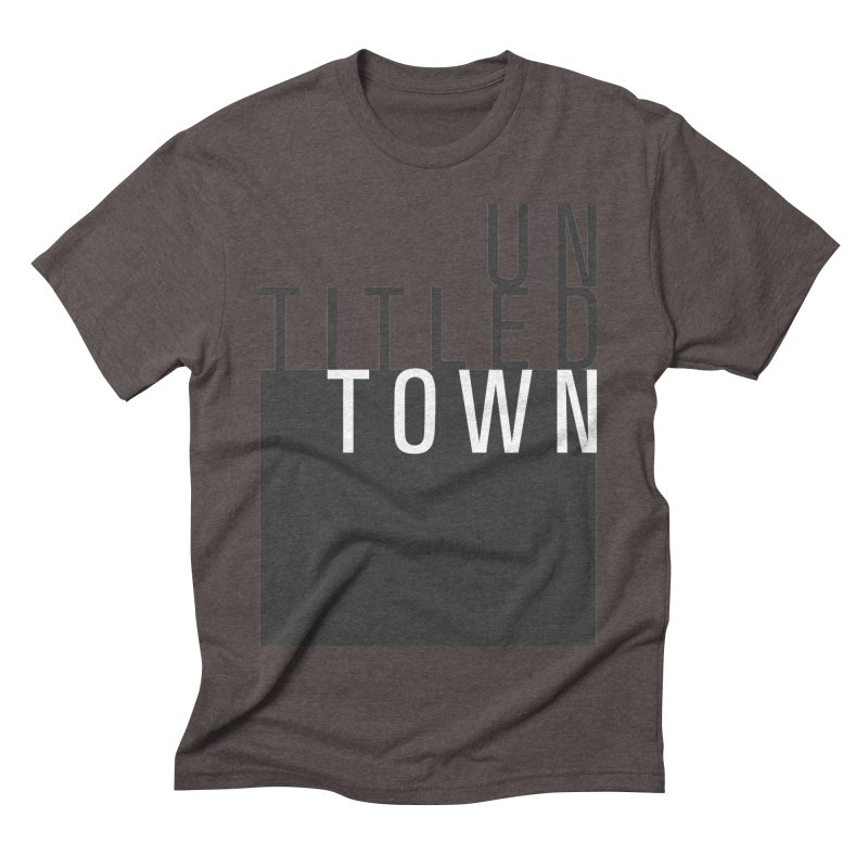 Un/Titled/Town Black + White letters Men's Triblend T-Shirt by UntitledTown Store