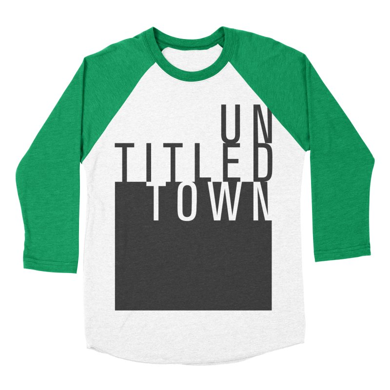 Un/Titled/Town Black + White letters Women's Baseball Triblend Longsleeve T-Shirt by UntitledTown Store