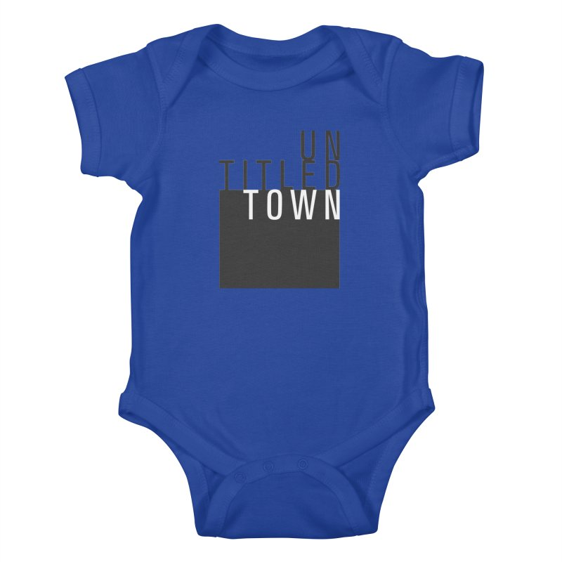 Un/Titled/Town Black + White letters Kids Baby Bodysuit by UntitledTown Store