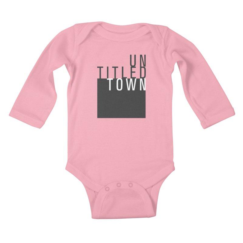 Un/Titled/Town Black + White letters Kids Baby Longsleeve Bodysuit by UntitledTown Store