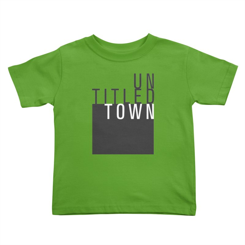 Un/Titled/Town Black + White letters Kids Toddler T-Shirt by UntitledTown Store