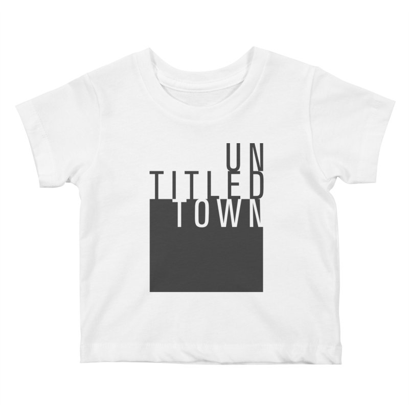 Un/Titled/Town Black + White letters Kids Baby T-Shirt by UntitledTown Store