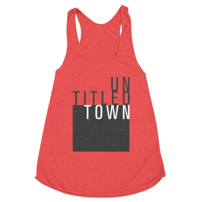Un/Titled/Town Black + White letters Women's Tank by UntitledTown Store