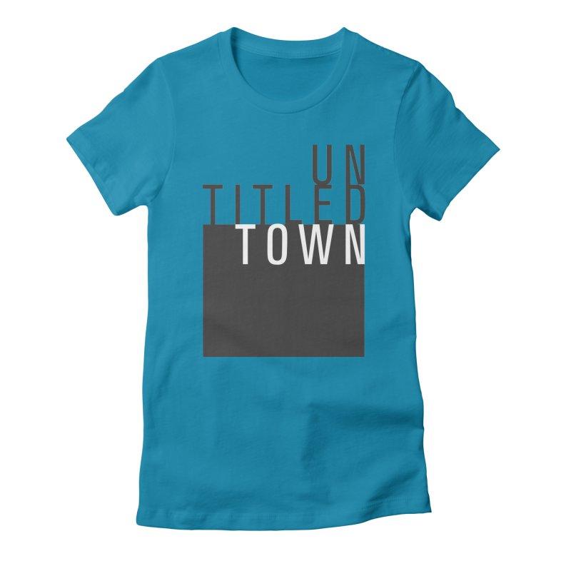Un/Titled/Town Black + White letters Women's T-Shirt by UntitledTown Store