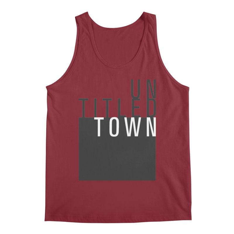 Un/Titled/Town Black + White letters Men's Regular Tank by UntitledTown Store