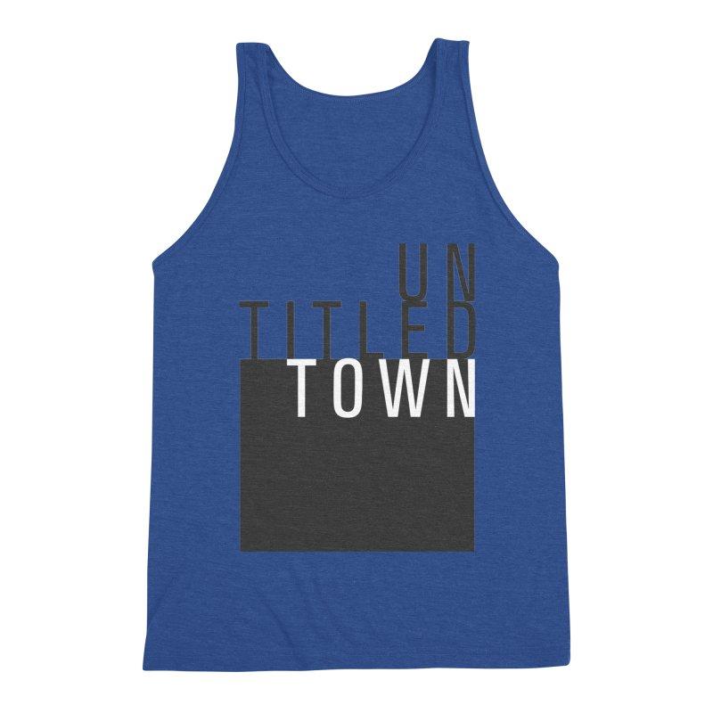 Un/Titled/Town Black + White letters Men's Tank by UntitledTown Store
