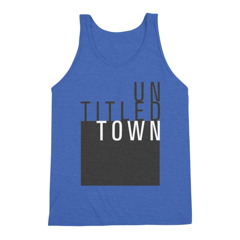 Un/Titled/Town Black + White letters Men's Triblend Tank by UntitledTown Store