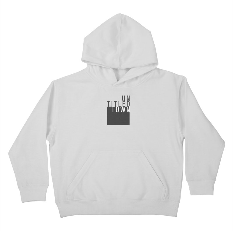 Un/Titled/Town Black + White letters Kids Pullover Hoody by UntitledTown Store