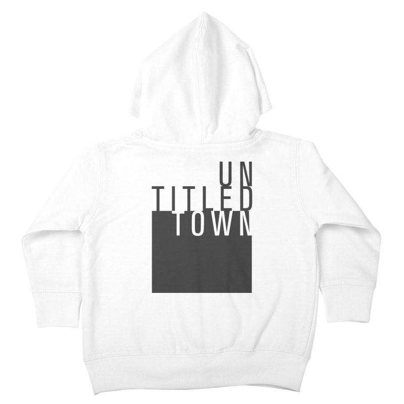 Un/Titled/Town Black + White letters Kids Toddler Zip-Up Hoody by UntitledTown Store