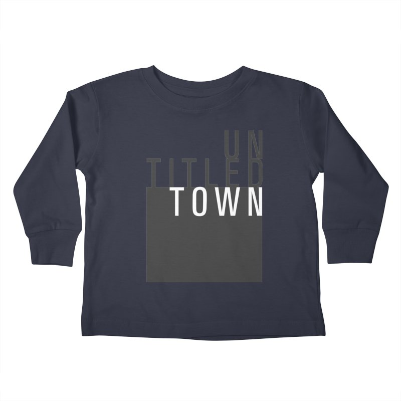 Un/Titled/Town Black + White letters Kids Toddler Longsleeve T-Shirt by UntitledTown Store