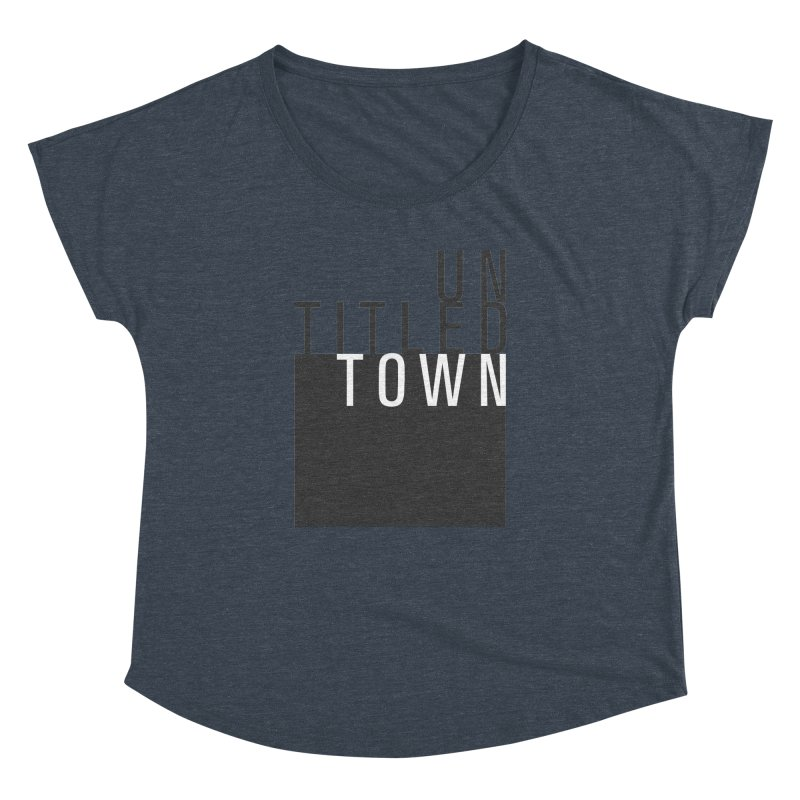 Un/Titled/Town Black + White letters Women's Dolman Scoop Neck by UntitledTown Store