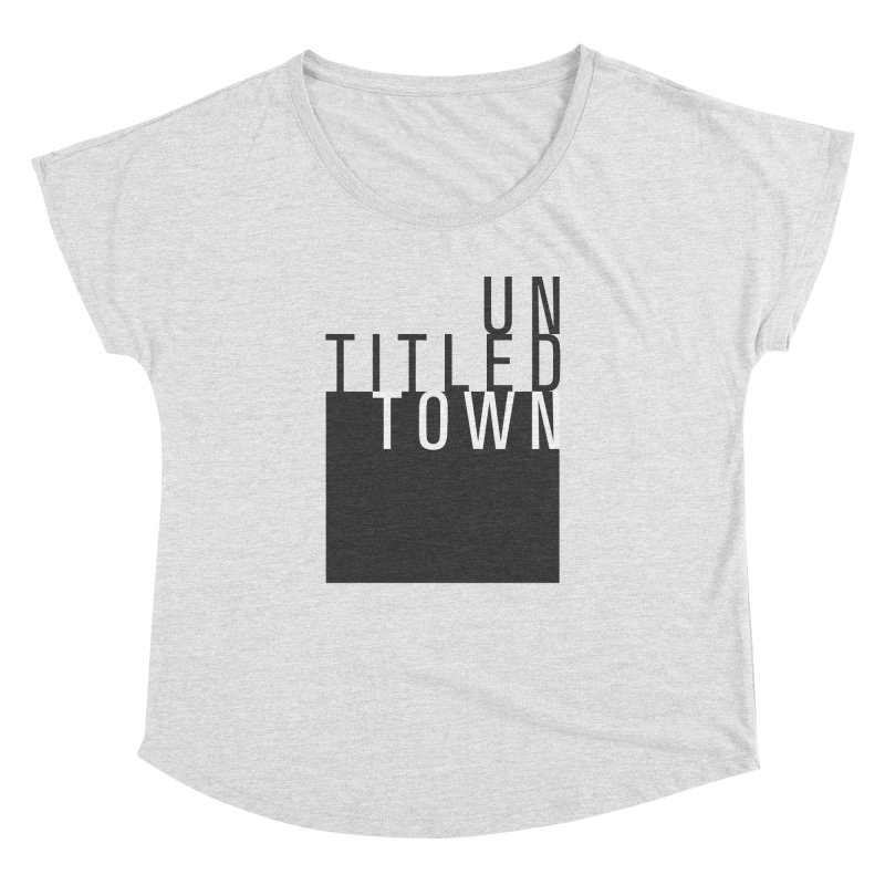 Un/Titled/Town Black + White letters Women's Dolman Scoop Neck by UntitledTown Store