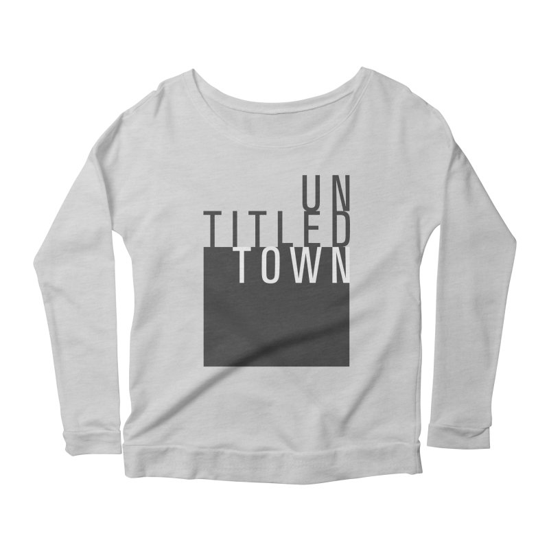 Un/Titled/Town Black + White letters Women's Scoop Neck Longsleeve T-Shirt by UntitledTown Store